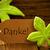 brown organic label with german text danke stock photo © nelosa