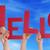 mensen · handen · Rood · woord - stockfoto © nelosa