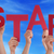 Many People Hands Holding Red Word Star Blue Sky stock photo © Nelosa