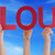people hands hold red straight word cloud blue sky stock photo © nelosa