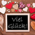 one chalkbord many red hearts viel glueck means good luck stock photo © nelosa