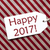 label on red wrapping paper text happy 2017 stock photo © nelosa