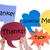 merci · différent · langues · seize · coloré · sticky · notes - photo stock © nelosa