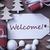 atmosphérique · Noël · cadeau · étiquette · Bienvenue · macro - photo stock © nelosa