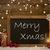 christmas card blackboard snowflakes candles merry xmas stock photo © nelosa