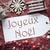 nostalgic decoration label with joyeux noel means merry christmas stock photo © nelosa