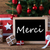 colorful christmas tree merci means thank you stock photo © nelosa