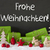 decoration cement snow frohe weihnachten means merry christmas stock photo © nelosa