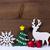 natal · decoração · rena · flocos · de · neve - foto stock © nelosa