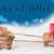rénszarvas · piros · utalvány · jávorszarvas · rajz · ajándékok - stock fotó © nelosa