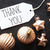 bronze christmas tree balls text thank you stock photo © nelosa