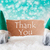 turqoise gnomes with card thank you stock photo © nelosa