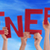 wiele · ludzi · ręce · czerwony · słowo - zdjęcia stock © nelosa