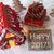 gingerbread house sled snow text happy 2017 stock photo © nelosa