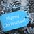 青 · 雪 · 文字 · 陽気な · クリスマス · ラベル - ストックフォト © nelosa