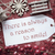 nostalgic christmas decoration label with quote always reason to smile stock photo © nelosa