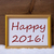 golden frame with red text happy 2016 on snow stock photo © nelosa