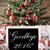 nostalgic christmas tree with goodbye 2016 stock photo © nelosa