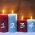 três · branco · férias · velas · vermelho · luz - foto stock © nelosa