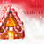gingerbread house red background text frohe weihnachten means merry christmas stock photo © nelosa