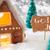 mézeskalács · ház · hópelyhek · vidám · címke · francia - stock fotó © nelosa