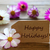 label with text happy holidays with cosmea blossoms stock photo © nelosa