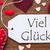 one label red hearts viel glueck means good luck macro stock photo © nelosa