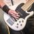 basszus · gitár · kéz · zenész · játszik · öt - stock fotó © nelsonart