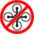 no drone multicopter prohibited symbol vector stock photo © nemalo
