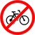 no bicycle sign vector illustration flat design stock photo © nemalo