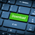 laptop keyboard the focus on the download key stock photo © nemalo