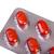 gyógyszer · tabletták · izolált · fehér · orvosi · piros - stock fotó © nemalo