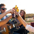 portrait of group of friends toasting with bottles of beer stock photo © nenetus
