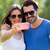 happy young couple taking selfies with her smartphone in the par stock photo © nenetus