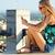 подростку · женщину · мобильного · телефона · лет · носить · платье - Сток-фото © nenetus