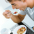 genieten · ontbijt · keuken · gelukkig · voedsel - stockfoto © nenetus
