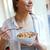 portret · młodych · kobieta · jedzenie · zboża - zdjęcia stock © nenetus