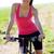 portre · mutlu · genç · kadın · dağ · bisikleti · açık · havada · doğa - stok fotoğraf © nenetus