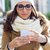 kaukasisch · zakenvrouw · sjaal · werk · model - stockfoto © nenetus