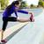 atleta · mulher · pernas · corrida · ao · ar · livre - foto stock © nenetus