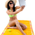 pretty young girl with green bikini taking selfies with her digi stock photo © nenetus