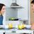 śniadanie · tabeli · kobieta · para - zdjęcia stock © nenetus
