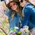 two beautiful young women taking a selfie in the field stock photo © nenetus