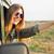 blond · meisje · zonnebril · rijden · auto · gelukkig - stockfoto © nenetus