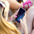 Pretty young girl chatting with  smartphone stock photo © nenetus