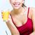 gülümseyen · kadın · çanak · müsli · kahvaltı · sağlık · gıda - stok fotoğraf © nenetus