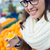 young beautiful woman shopping fruit in a market stock photo © nenetus