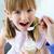 piękna · dziewczynka · jedzenie · śniadanie · kuchnia · domu - zdjęcia stock © nenetus