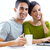 Happy young couple browsing internet at home stock photo © nenetus