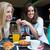 tre · giovani · donne · pausa · caffè · primavera · sorriso · caffè - foto d'archivio © nenetus